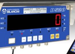 Terminale di pesatura D520 con telecomando